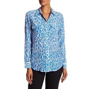 EQUIPMENT  Slim Fit Leopard Regatta Multi Shirt M
